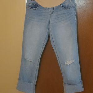 INDIGOBLUE CROP TROIS QUARTS maternity jeans